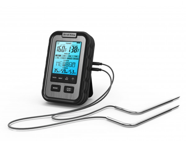 Digitales Thermometer mit 2 Messfühlern