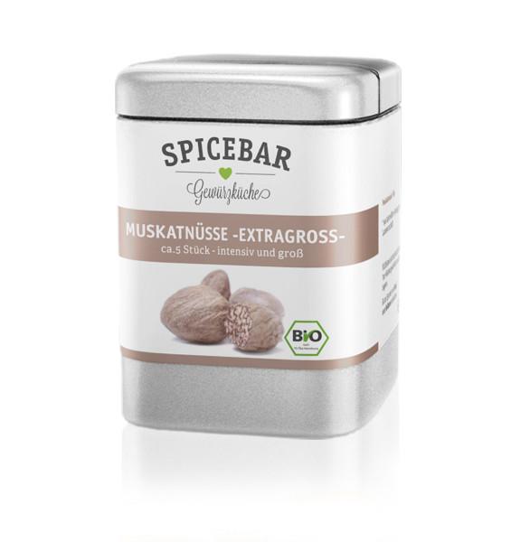 Spicebar Muskatnüsse, ganz - Bio
