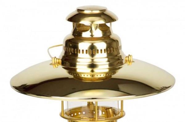 Petromax Reflektorschirm vergoldet